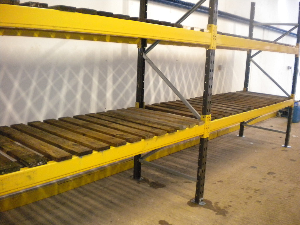 Heavy duty shelving 2 bays with deck boards special offer for Decking special offers