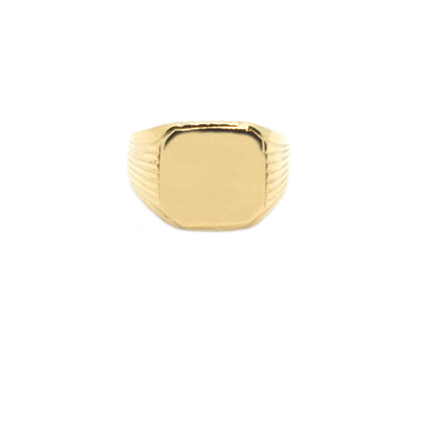 Classic Squared Signet Ring - (Available with Stone)
