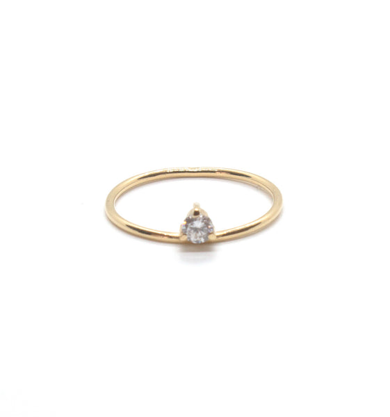 Birthstone Simple Ring