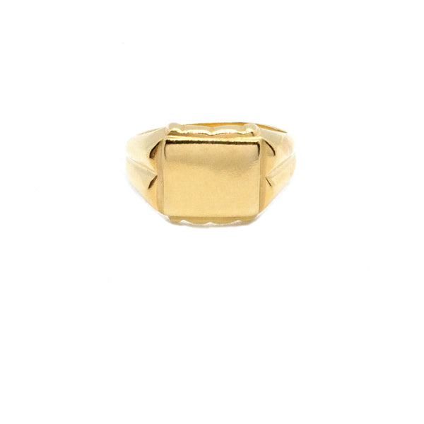 Bold Squared Signet Ring - (Available with Stone)