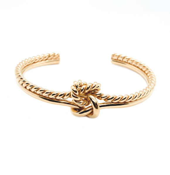 Double Knot Twisted Bold Cuff