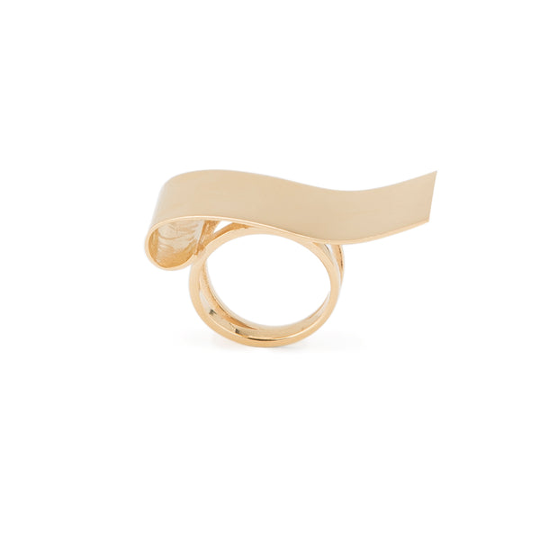 Waved Statement Ring