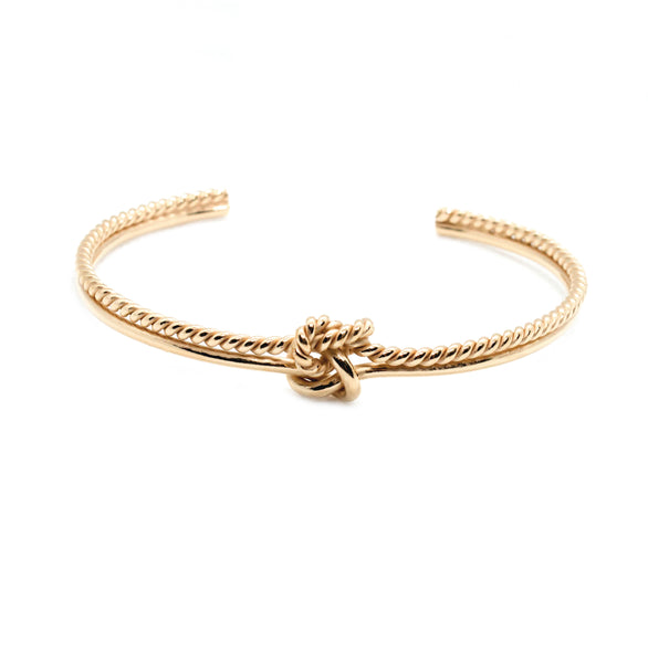 Double Knot Twisted Thin Cuff