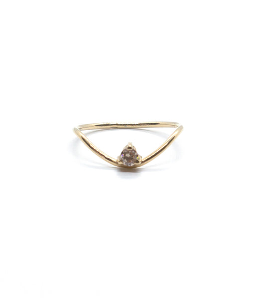 Waved Dainty Ring