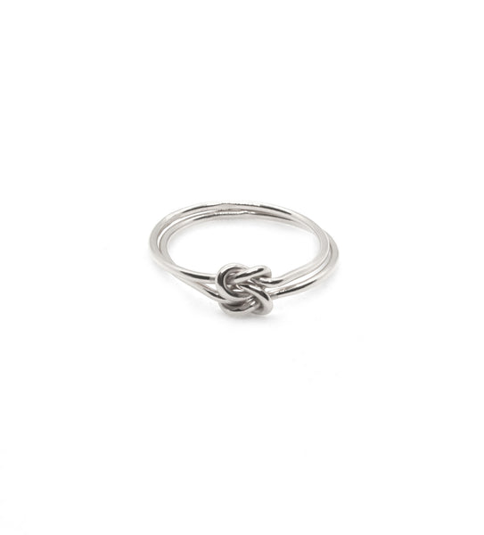 Thin Double Knot Ring