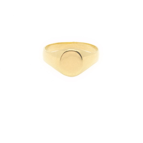 Mel Medium Signet Ring - (Engraving Available)