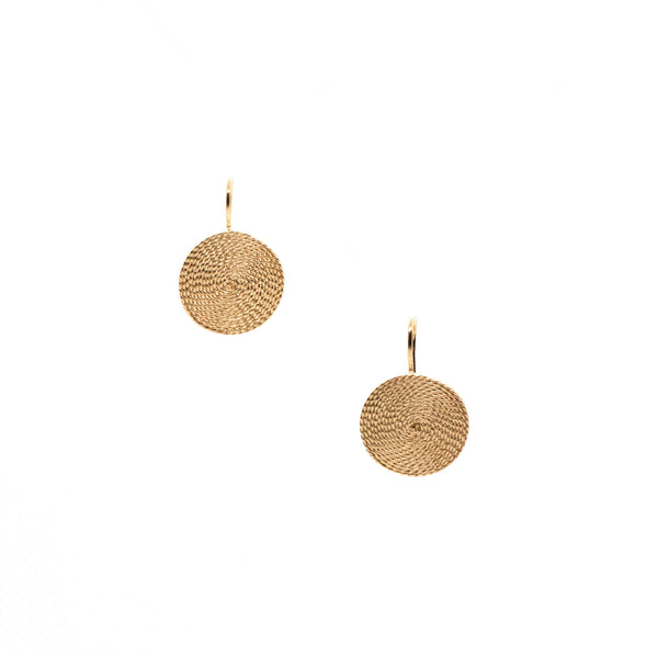 Medium Circle Traditional Drop Earrings