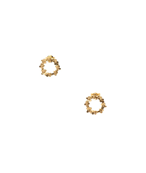 Mini Circle Flower Earrings