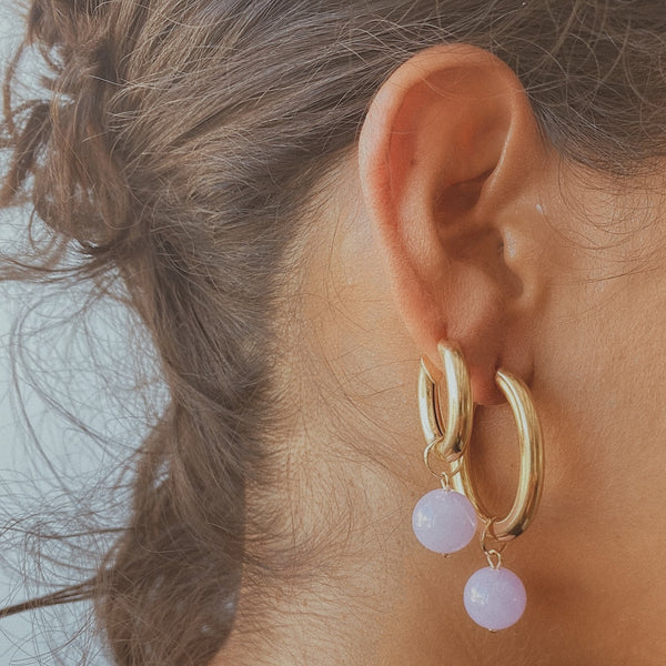 Molly Medium Hoops - More Colours Available