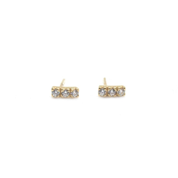 Kim Pavé Studs (More Colours Available)