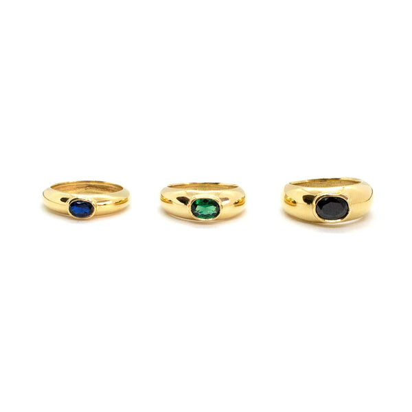 Laetitia Dôme Ring with Stone - Trio