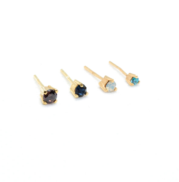 Simple Birthstone Studs