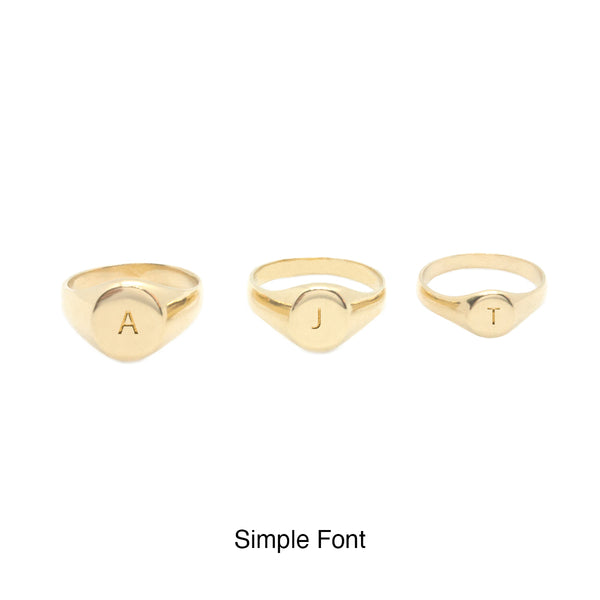 Mel Large Signet Ring - (Engraving Available)