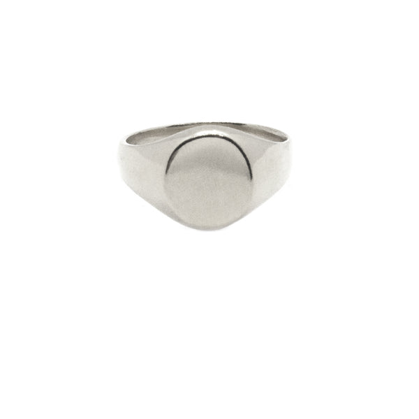 Classic Large Signet Ring - (Available with Stone)