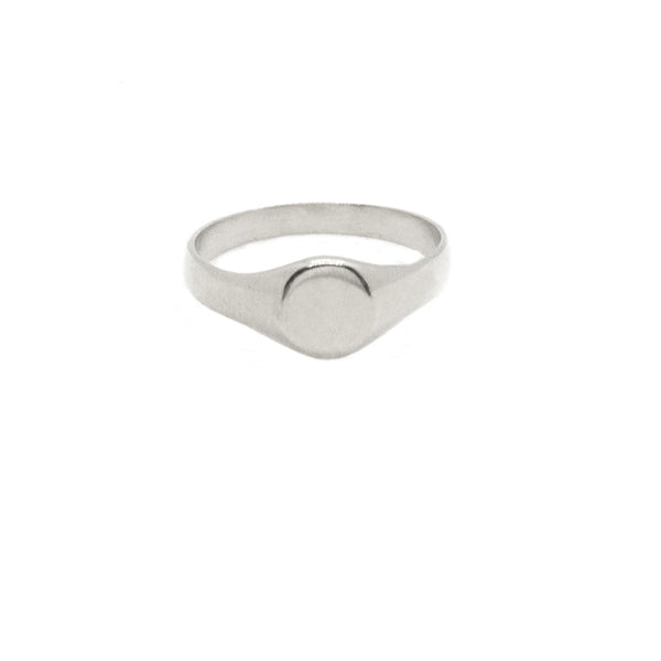 Mel Mini Signet Ring - (Engraving Available)