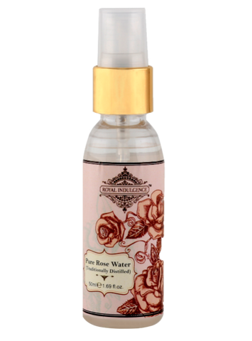 Pure Distilled Damask Rose Water (50 ML) by Royal Indulgence