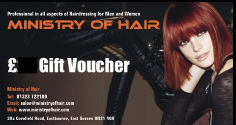 Ministry Of Hair £10 Gift Voucher