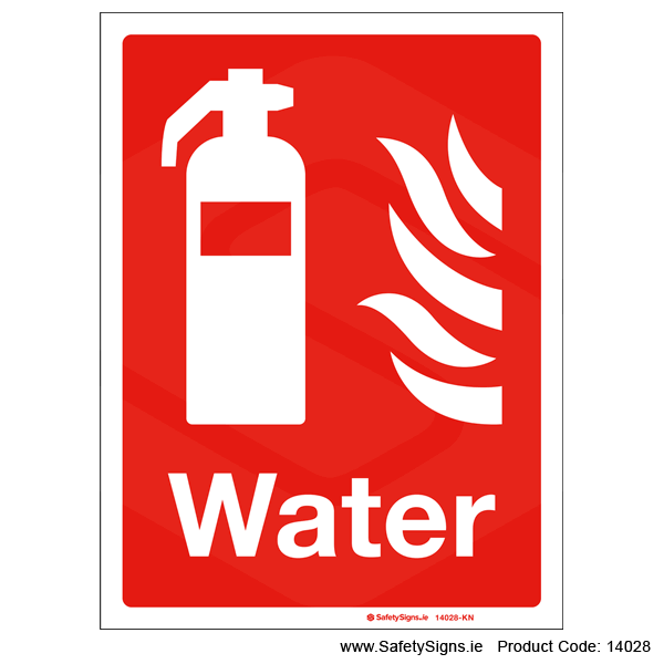 Fire Extinguisher Water - 14028