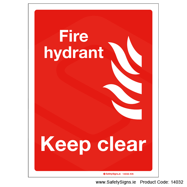 Fire Hydrant Keep Clear - 14032