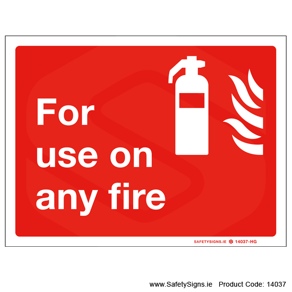 For use on any Fire - 14037