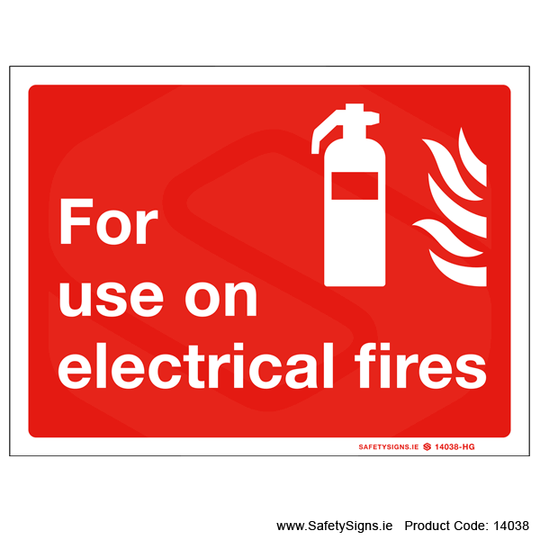 For use on Electrical Fires - 14038