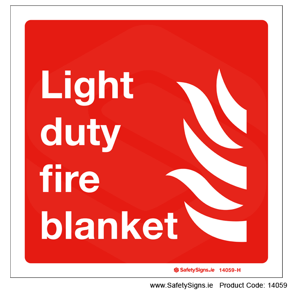 Light Duty Fire Blanket - 14059