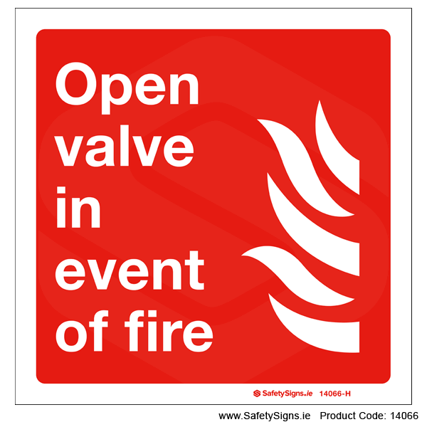 Open Valve in event of Fire - 14066