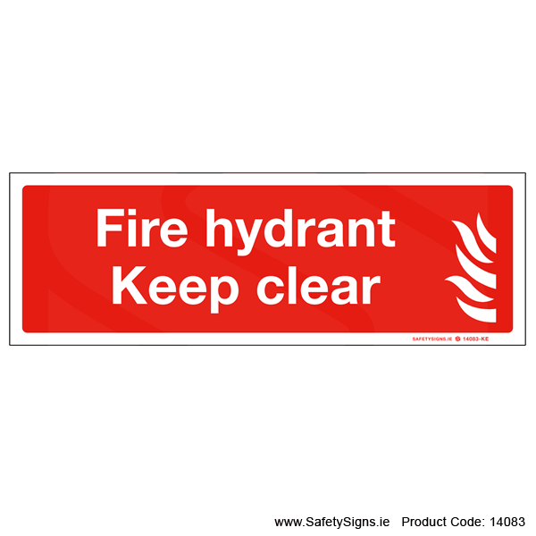 Fire Hydrant Keep Clear - 14083