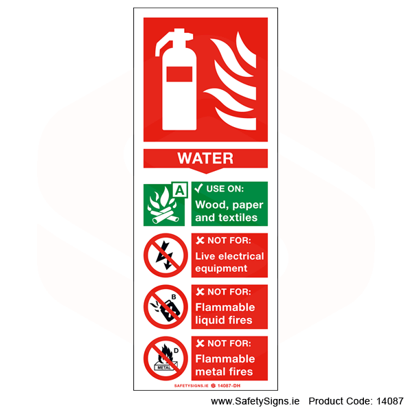 Fire Extinguisher SG14 Water - 14087