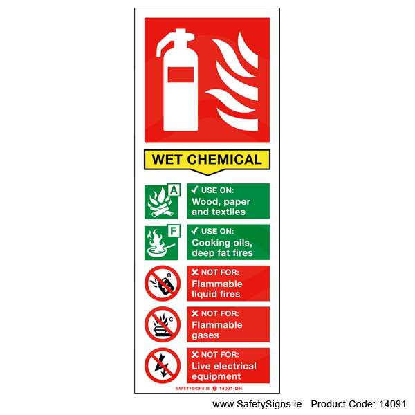 Fire Extinguisher SG14 Wet Chemical - 14091