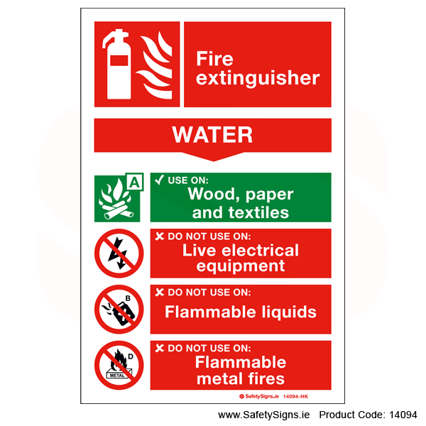 Fire Extinguisher SG15 Water - 14094