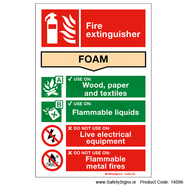 Fire Extinguisher SG15 Foam - 14096