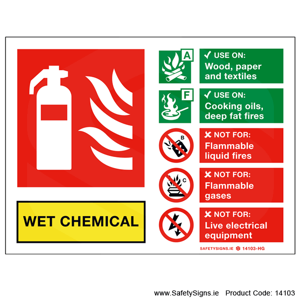 Fire Extinguisher SG16 Wet Chemical - 14103