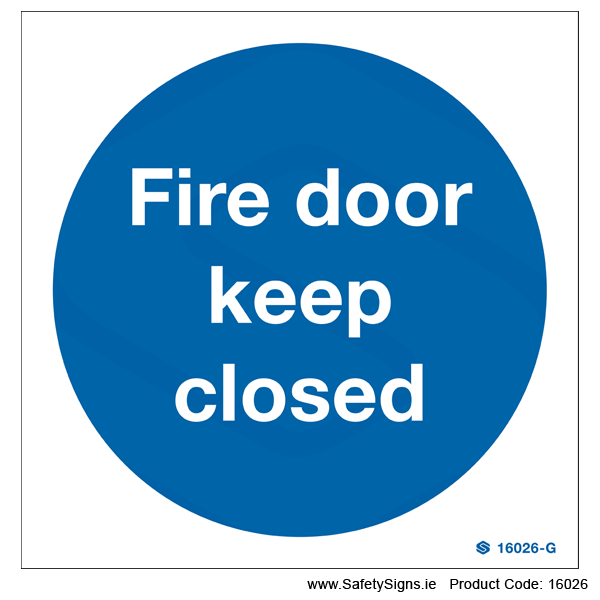 Fire Door Keep Closed - 16026