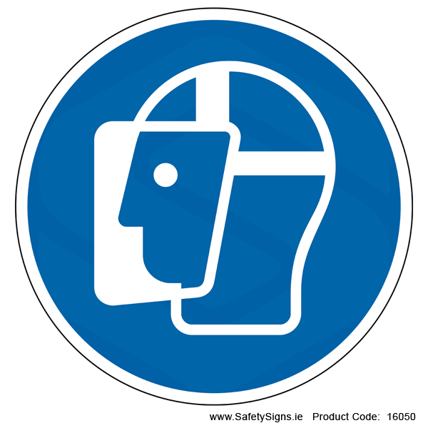 Wear a Face Shield (Circular) - 16050