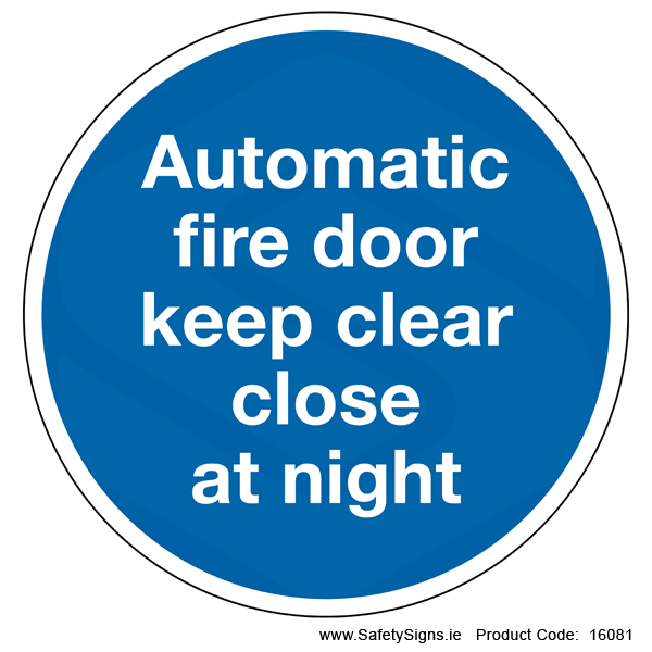 Automatic Fire Door (Circular) - 16081