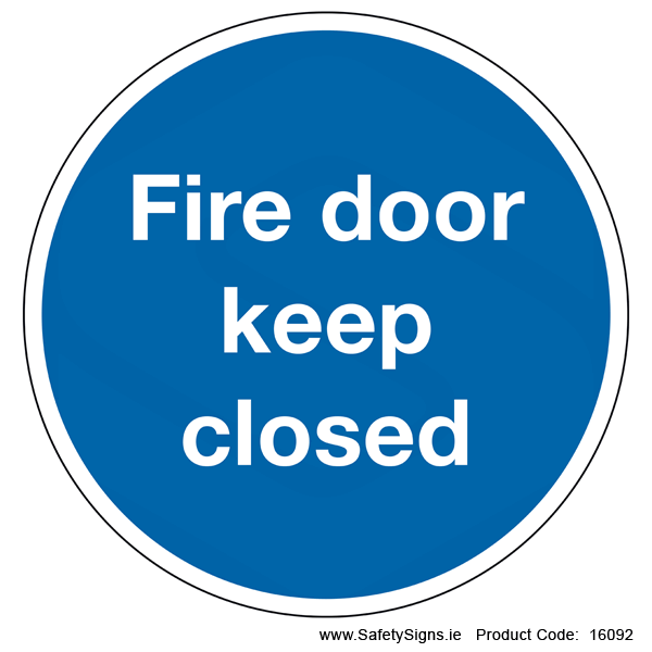 Fire Door Keep Closed (Circular) - 16092