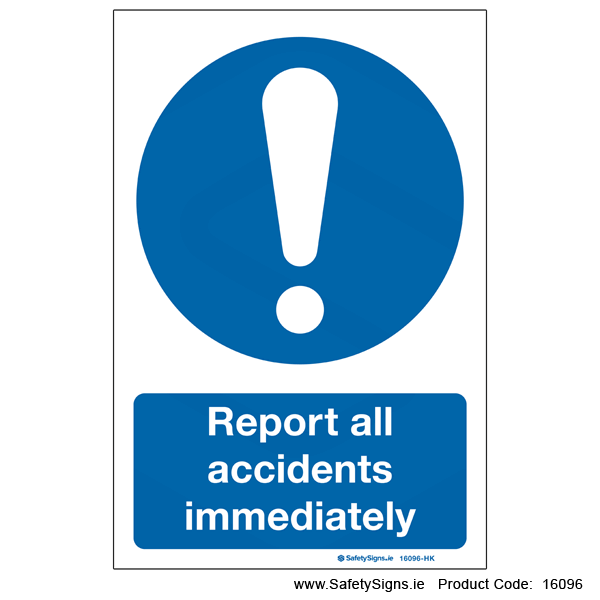Report all Accidents - 16096