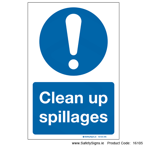 Clean up Spillages - 16105