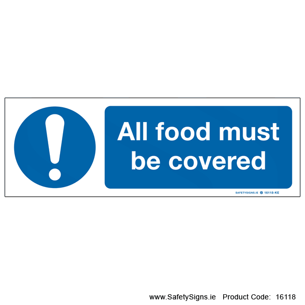 Food must be Covered - 16118