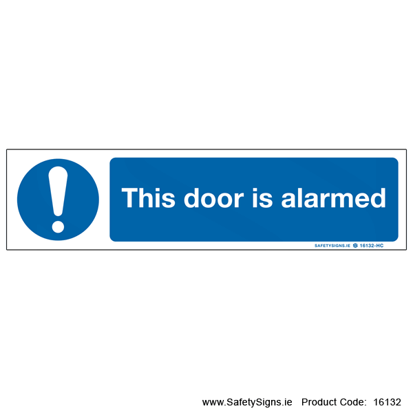 Door is Alarmed - 16132