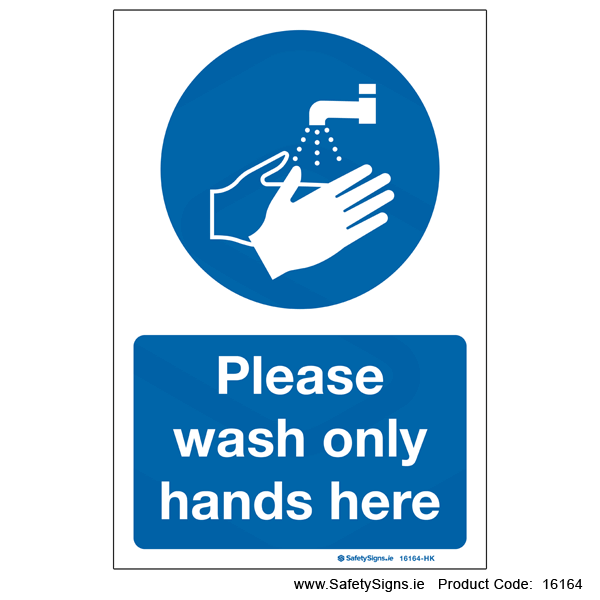 Wash Hands Here - 16164