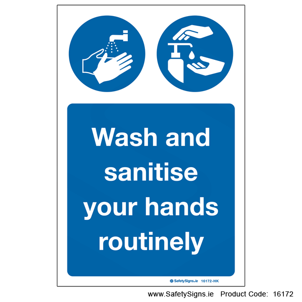 Wash and Sanitise Hands - 16172