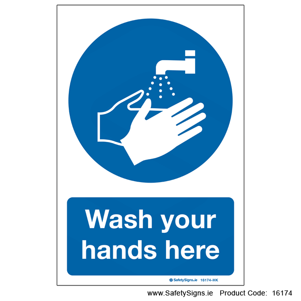 Wash Your Hands here - 16174