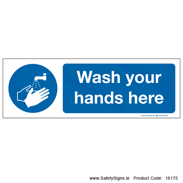 Wash Your Hands here - 16175