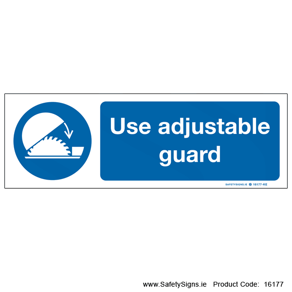 Use Adjustable Guard - 16177