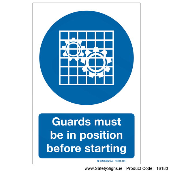 Guards must be in Postion - 16183