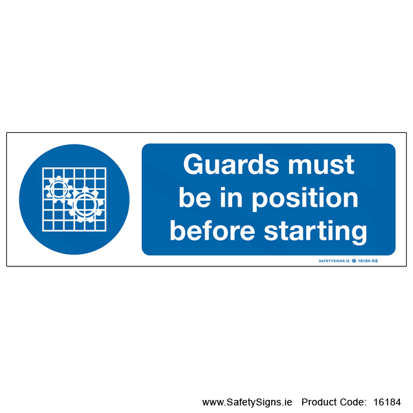 Guards must be in Postion - 16184