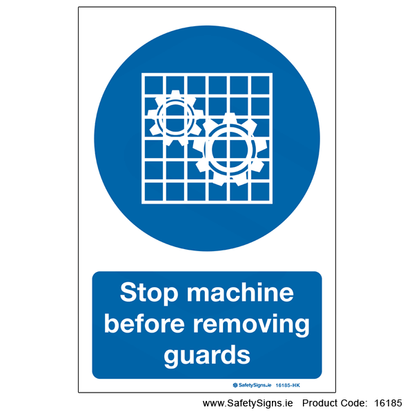 Stop Machine before Removing Guards - 16185