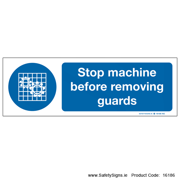 Stop Machine before Removing Guards - 16186